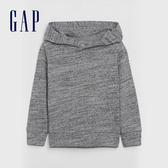 Gap男幼童 簡約純色長袖針織上衣 619191-淺麻灰