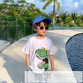 童裝男童短袖T恤兒童純棉恐龍半袖上衣中大童夏裝2021新款潮 夏季新品