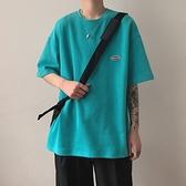 夏季短袖t恤男潮牌寬鬆小清新ins半袖上衣bf港風潮流學生純色體恤 韓國時尚 618