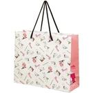 小禮堂 史努比 橫式方形手提紙袋 中提袋 禮物紙袋 包裝紙袋 禮品袋 (米 文字) 4973307-53579