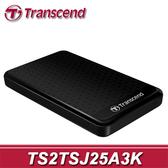 【免運費】Transcend 創見 StoreJet 25A3 黑色花紋 2TB USB3.0 2.5吋 防震行動硬碟 (TS2TSJ25A3K) 2T