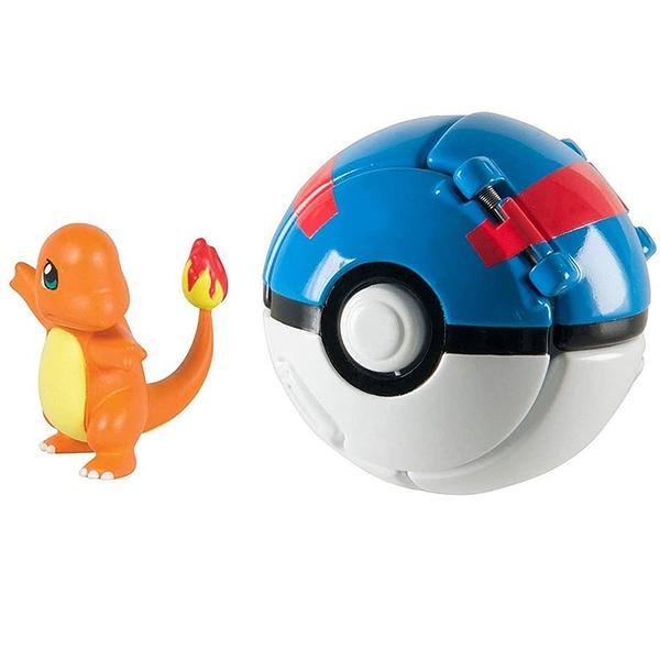 [9美國直購] DVNBS Pokemon 精灵宝可梦儿童玩具套装 Throw N Pop Poke Ball with Pokemon Action Figures Pokemon Toys