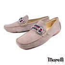 【Marelli】雙D釦飾反絨皮休閒鞋 ...