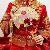 扇子 新娘中式婚禮秀禾服成品團扇優質扇子女古風漢服工藝扇結婚禮物