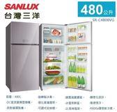 《台灣三洋SANLUX》 480L采晶玻璃直流變頻冰箱SR-C480BVG