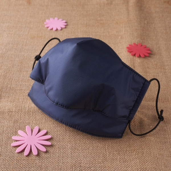 【雨晴牌-專利開口防雨口罩】◎成人-深藍色◎特製親膚材質舒適好戴 免洗晾乾即可 100%防水