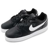 Nike 休閒鞋 Ebernon Low 黑 白 平底鞋 基本款 黑白 男鞋 運動鞋【ACS】 AQ1775-002