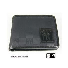 Backbager 背包族【MLB 美國大聯盟 洋基】橫式 名片夾/皮夾/短夾/錢包-黑色
