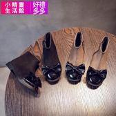 秋 兒童靴蝴蝶結女童 中筒靴中大童學生休閒短靴時裝靴小精靈