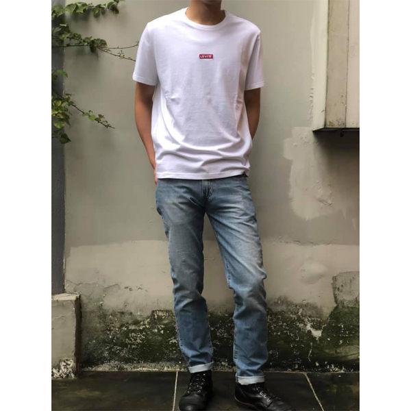 Levis 男款 511 低腰修身窄管牛仔褲 / 淺藍刷白 / 彈性布料
