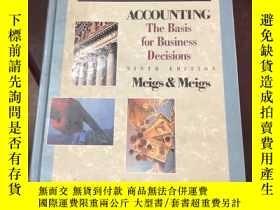 二手書博民逛書店【罕見】Accounting : The Basis for B