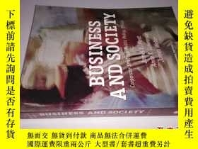 二手書博民逛書店Business罕見and Society Ninth Edit