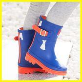 全館85折兒童雨鞋男女童寶寶中小童天然橡膠雨靴膠鞋幼兒小孩學生防滑水鞋 森活雜貨