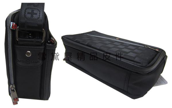 ~雪黛屋~OVER-LAND 肩側包小容量二層主袋隨身物品專用輕巧中性款防水尼龍布多袋口設計T5264