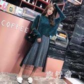 洋裝 秋冬新款韓版時尚氣質慵懶風網紗半身裙兩件式公主裙 DN20964【旅行者】