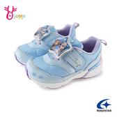 Moonstar月星女童鞋 冰雪奇緣電燈鞋 機能鞋 運動鞋 慢跑鞋 艾莎 迪士尼聯名款 J9636#水藍◆OSOME奧森