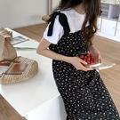 法式碎花吊帶裙洋裝連身裙韓版【29-16-8XT21H1015-21】ibella 艾貝拉