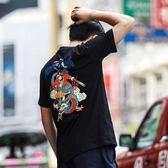 休閒棉短袖復古中國風五分袖T恤男士國潮體恤