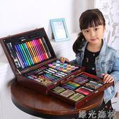 繪畫工具 兒童水彩筆套裝幼兒園小學生畫畫筆繪畫工具美術用品生日禮物無毒 綠光森林