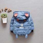嬰兒棉襖2021冬裝新款寶寶棉衣外套男童加絨保暖連帽衣服1-3歲 茱莉亞