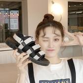 涼鞋女新款夏時尚大碼平底露趾