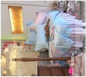 六件式專櫃高級床罩組(6*6.2尺)加大/御芙專櫃『蒂芬妮/藍』*╮☆法式典藏˙浪漫臻愛系列