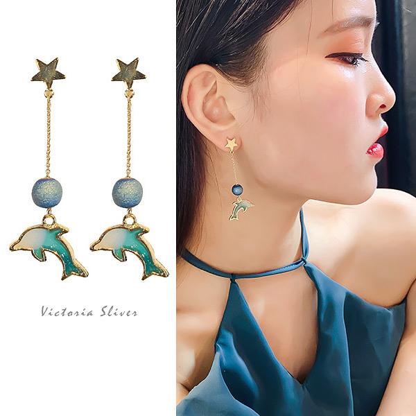925純銀針  韓國優雅氣質  甜美.自然.氣質耳環-維多利亞190769