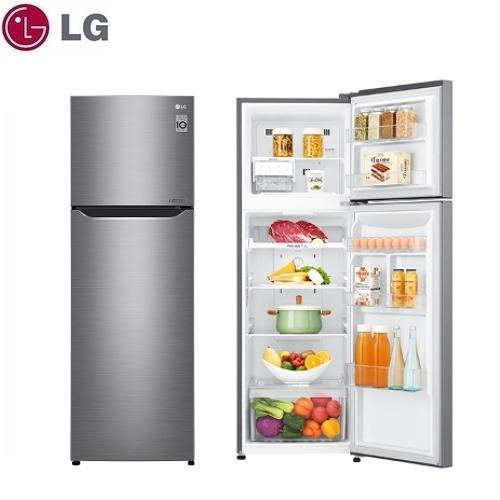 可申請退稅補助【LG】253L 直驅變頻上下門電冰箱《GN-L307SV》星辰銀 壓縮機十年保固(含拆箱定位)
