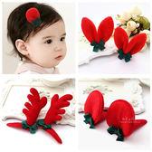 大紅年節造型BB髮夾 一對入 兒童髮飾 髮夾