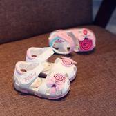 學步鞋 夏季真皮寶寶涼鞋女童鞋公主鞋0-1-3歲嬰幼兒學步鞋軟底包頭鞋子2  寶貝計畫