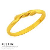 Justin金緻品 黃金女尾戒 相思結 金飾 純金戒指 金戒指 戒子 女戒 麻花系列
