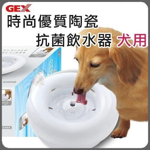 『寵喵樂旗艦店』【含運】日本GEX《犬用時尚優質陶瓷抗菌飲水器》1.5L