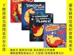 二手書博民逛書店英文原版繪本罕見Dinosaurs That Pooped Co