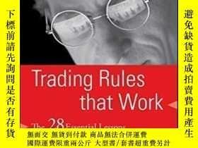 二手書博民逛書店Trading罕見Rules That Work-有效的交易規則Y436638 Jason Alan Jank