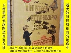 二手書博民逛書店1893年簽名罕見THIRTEEN LITTLE BLACK P