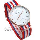 GENEVA 歐風米蘭時尚 繽紛彩色錶 玫瑰金色 圓錶 女錶 石英錶 數字錶 Y500紅藍白7
