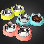 狗狗盆雙碗小大型犬寵物飯盆貓咪糧大號喂喝水食盆泰迪不銹鋼狗碗 聖誕交換禮物
