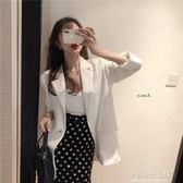 2019春裝新款韓版chic氣質寬鬆休閒西裝外套中長款長袖小西服女潮-Ifashion