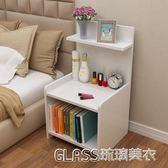 簡易床頭柜簡約現代床柜收納小柜子組裝儲物柜宿舍臥室組裝床邊柜igo    琉璃美衣