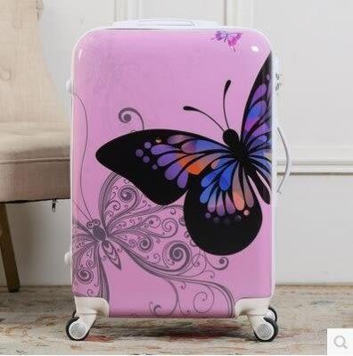 蝴蝶拉桿登機箱 萬向輪潮流行李箱 20吋【藍星居家】