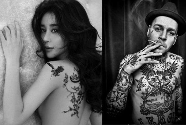 花臂紋身貼紙  抽煙美女   日韓系水轉印紋身貼紙 想購了超級小物