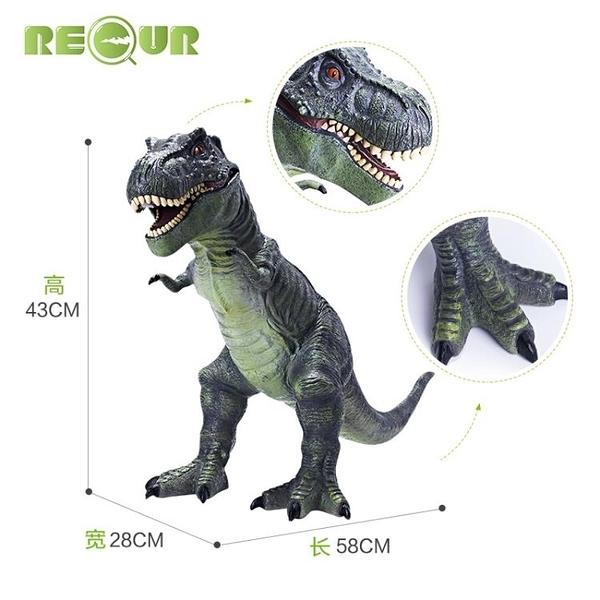 動物模型 軟膠恐龍玩具仿真動物模型兒童男孩超大號霸王龍暴龍塑膠軟 一木良品
