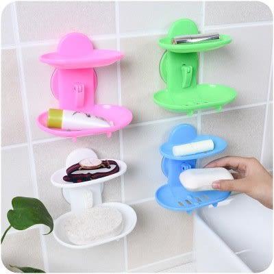 【全館5折】WaBao 雙層吸盤瀝水肥皂盒 =D0B552=