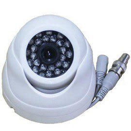 【CHICHIAU】24燈 半球CCD彩色監視器 SHARP 半球 彩色 攝影機 1/3 CCD 室內 監視器 含變壓器