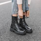 馬丁靴女 粗跟 百搭英倫 機車靴女 短靴
