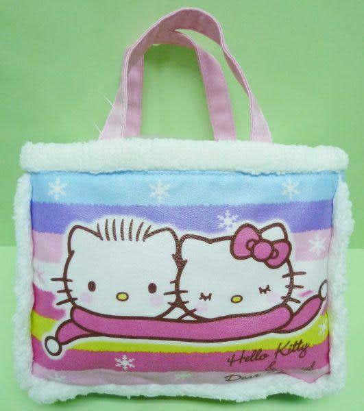 【震撼精品百貨】Hello Kitty 凱蒂貓 & Dear Daniel 丹尼爾~迷你手提袋『毛毛圍巾』