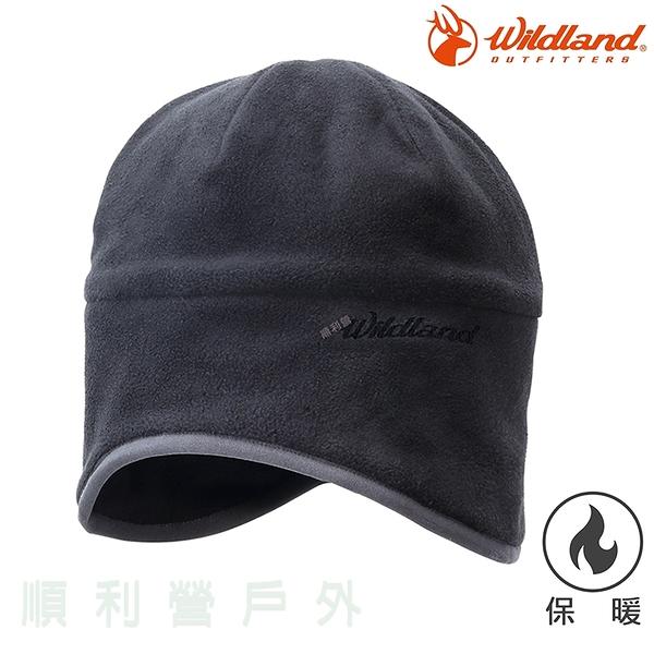 荒野WILDLAND 中性Pile保暖遮耳帽 W2001 黑色 刷毛 保暖帽 刷毛帽 抗風 禦寒 OUTDOOR NICE