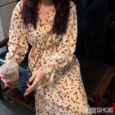 大碼洋裝 超胖女裝新款胖mm遮肚子洋氣正韓雪紡連身裙減齡