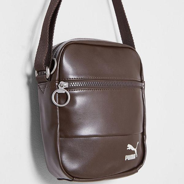 PUMA Originals 側背包 單肩 休閒 皮面 咖啡【運動世界】07480602