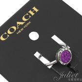 茱麗葉精品【全新現貨】COACH 67126 新款 紫彩環鑲嵌戒指.銀